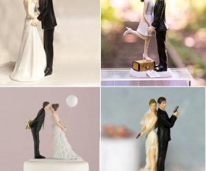 Figurine gateau mariage humour