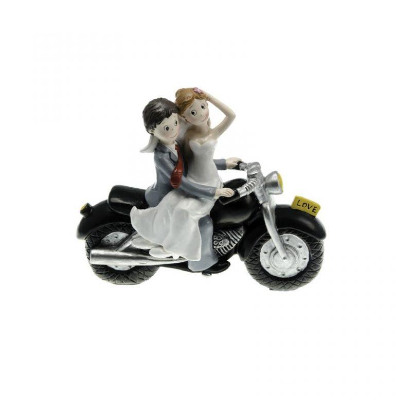 photo figurine gateau mariage moto