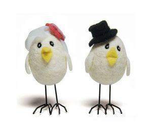 Figurine gateau mariage oiseau