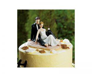 Figurine gateau mariage plage