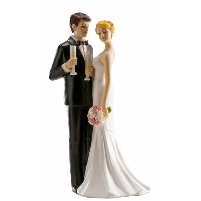 photo figurine pour gateau mariage couple mixte