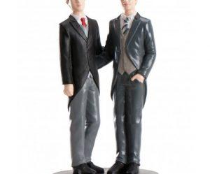 Figurine pour gateau mariage gay
