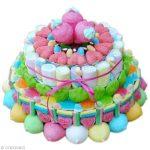 Idee décoration gateau avec bonbons