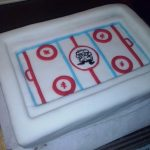 Décoration gateau hockey