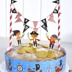 Décoration gateau pirate