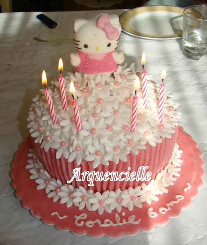 Photo d coration gateau anniversaire fille 6 ans 2 - Decor gateau anniversaire fille ...