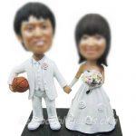 Figurine gateau mariage basket