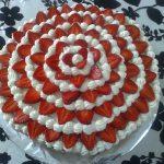 Déco gateau fraise