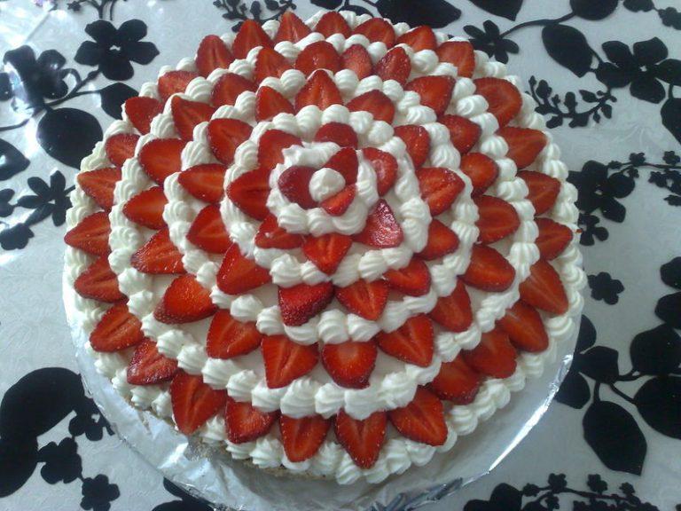 Top Déco gateau fraise DG19