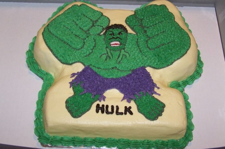 photo décoration gateau hulk