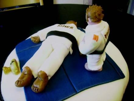 Décoration gateau judo