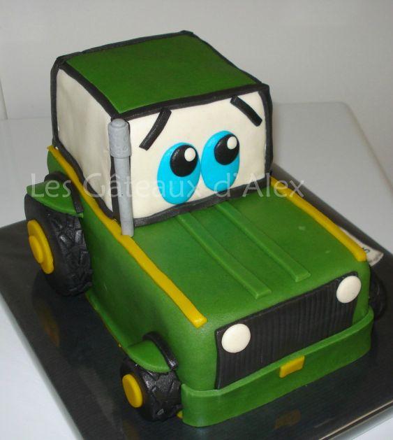 photo décoration gateau tracteur