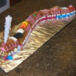 Décoration gateau train
