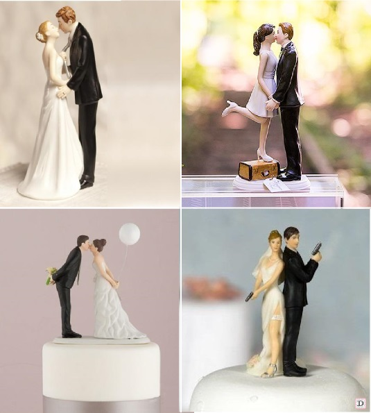 Figurine gateau mariage theme cinema