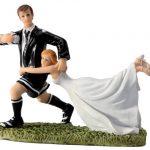 Figurine gateau de mariage rugby