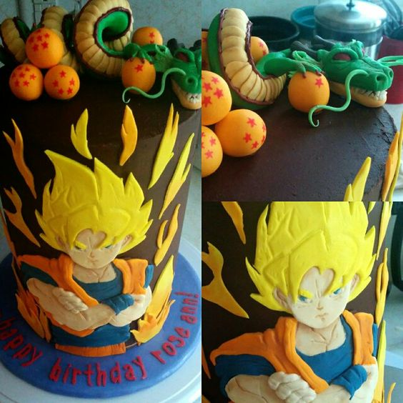 photo déco gateau dragon ball z
