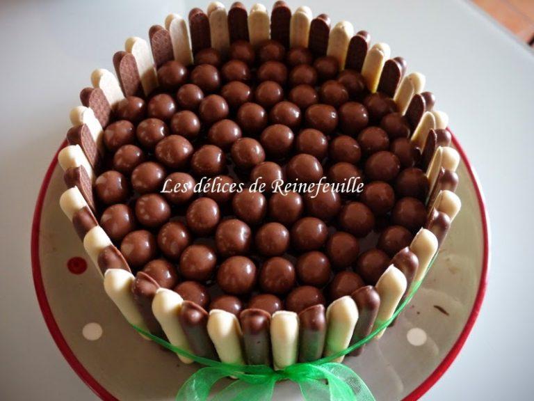 photo déco gateau en chocolat