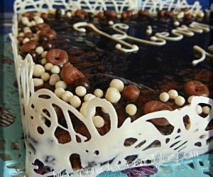 Déco gateau en chocolat