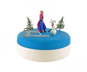 Déco gateau la reine des neiges