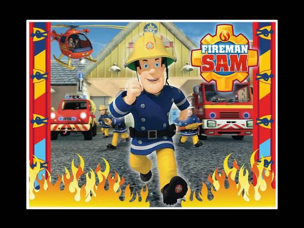 Déco gateau sam le pompier