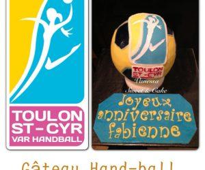 Décoration gateau handball