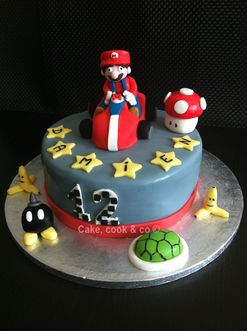 photo décoration gateau mario kart