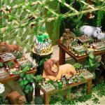 Décoration gateau jungle