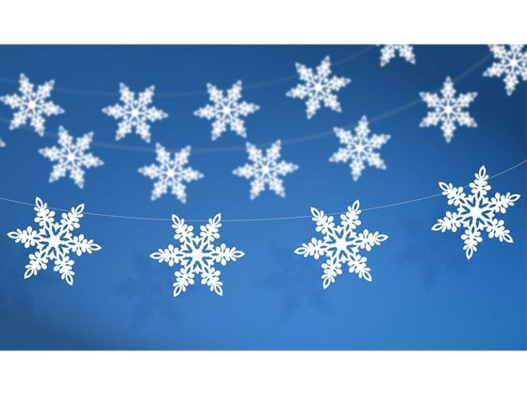 photo déco gateau flocon de neige