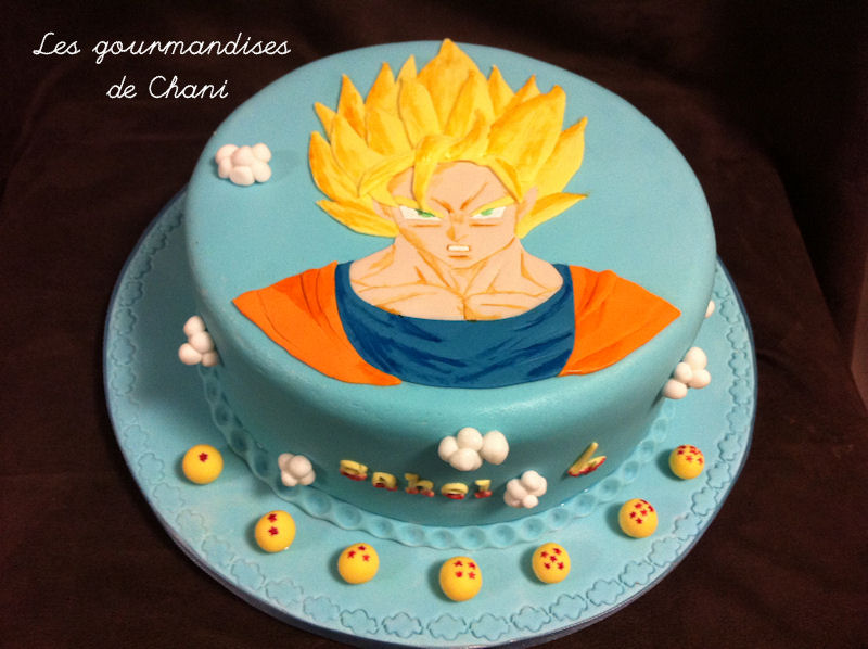 D coration gateau dragon ball z for Decoration dragon ball