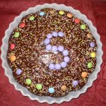 Décoration gateau smarties